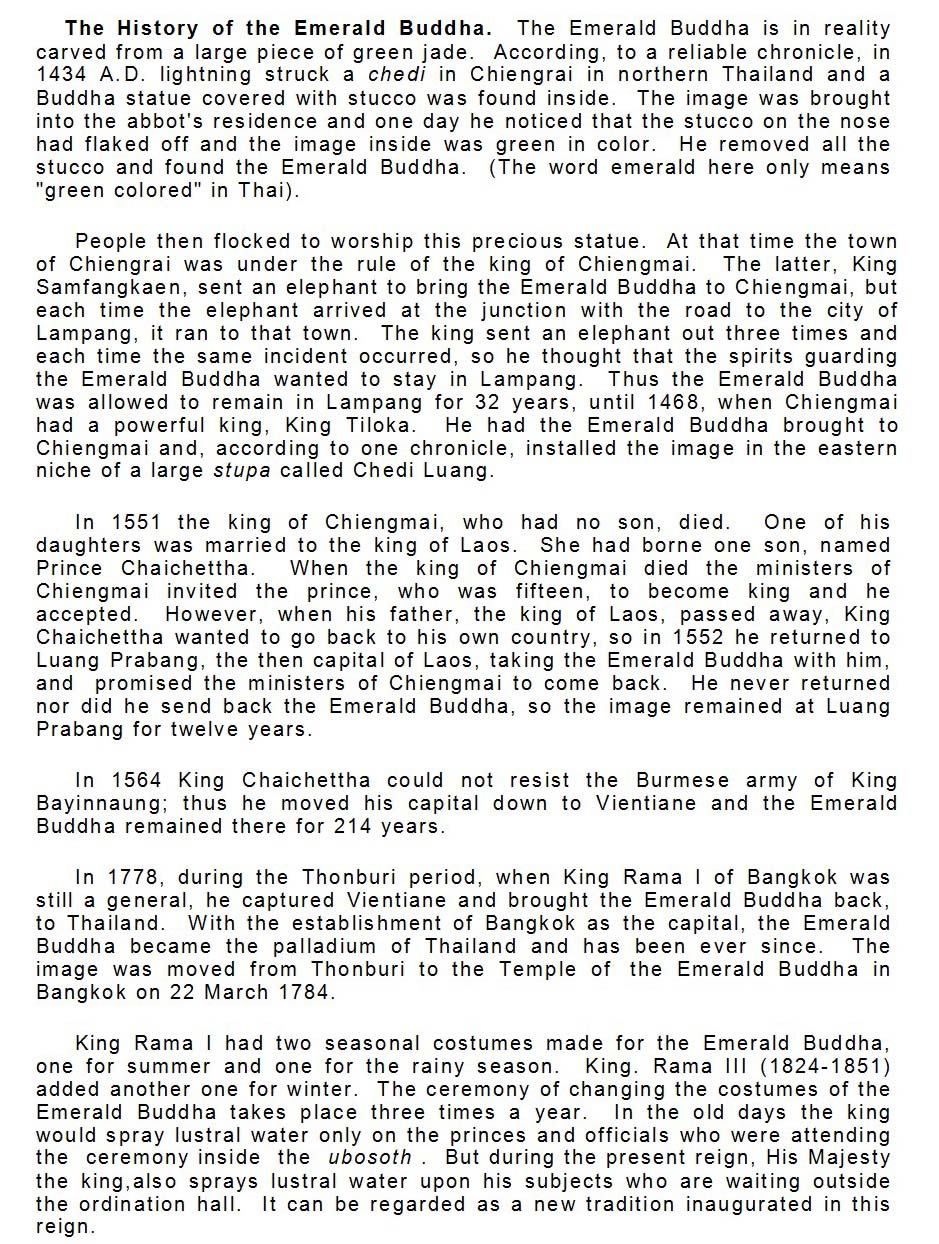 History of the Emerald Buddha page 2